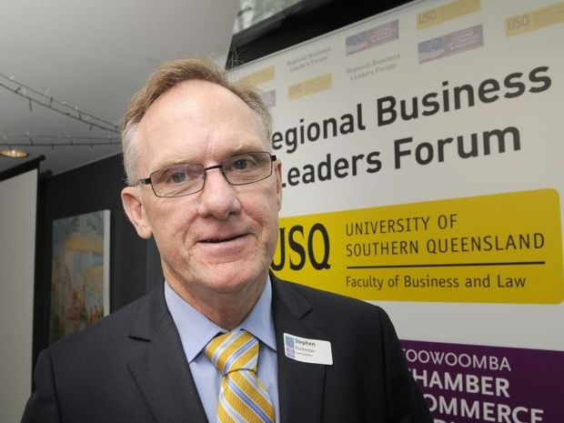 Stephen Rochester was the guest speaker at the Regional Leaders' Forum.