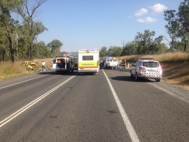 The AGL Action Rescue Helicopter has airlifted a 27-year-old man in a critical condition after two cars collided on the Bruce Highway south of Miriam Vale the afternoon of November 23, 2012.