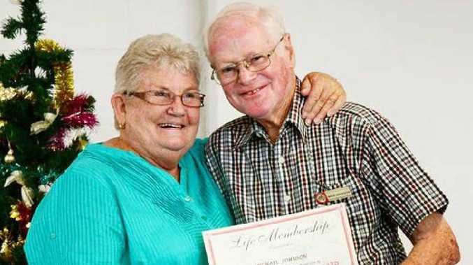 NEW LIFE MEMBER: Heart Support Australia Ipswich branch life member Michael Johnson and branch president Judy Edyvean.