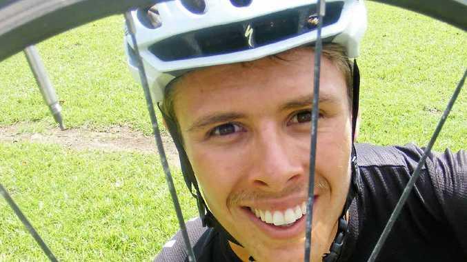 WHEEL KEEN: Bradley Clark is aiming for triathlon success tomorrow.