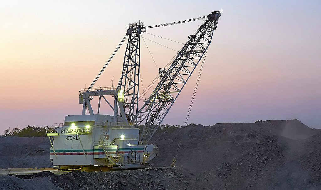 COMMON SIGHT: The Bucyrus-Erie 1370W electric powered dragline at Blair Athol has been an iconic sight at the mine.