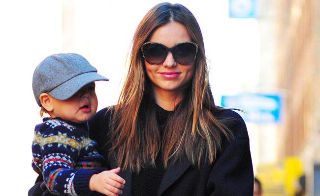 Miranda Kerr and son Flynn Bloom.