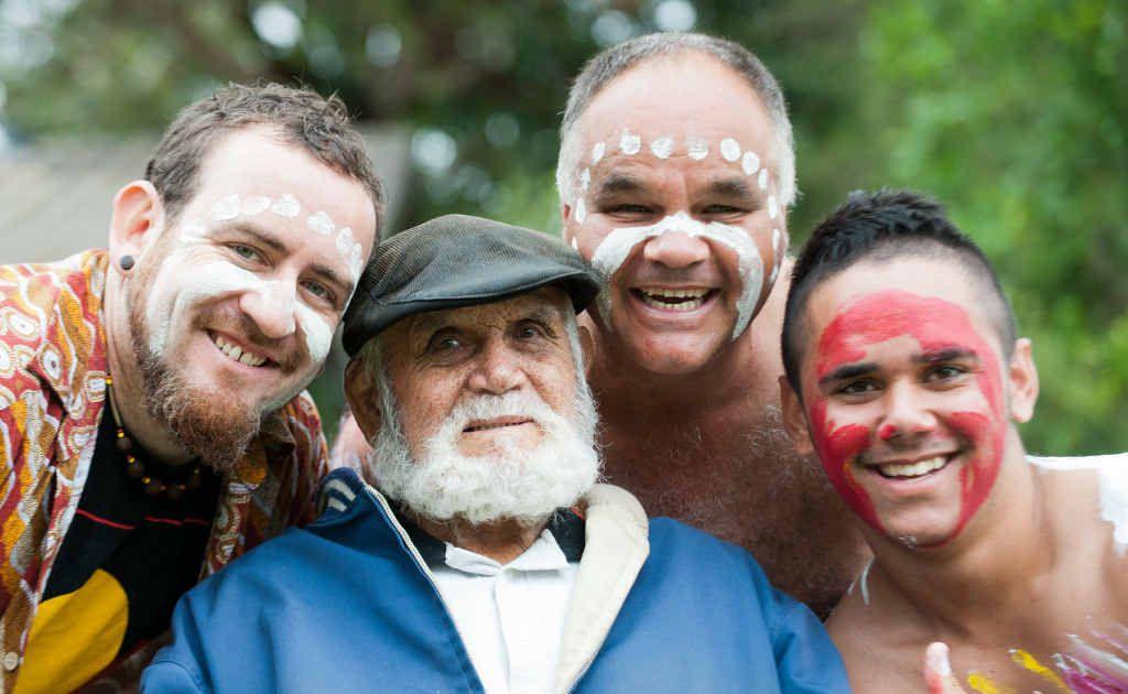Kristian Benton with Elder Tony Flanders, Steve Beetson and James Mulherin.