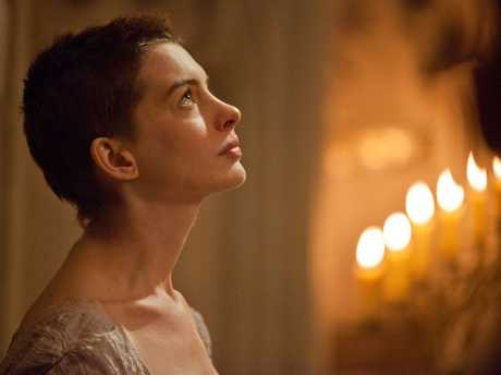 Anne Hathaway in a scene from Les Miserables.