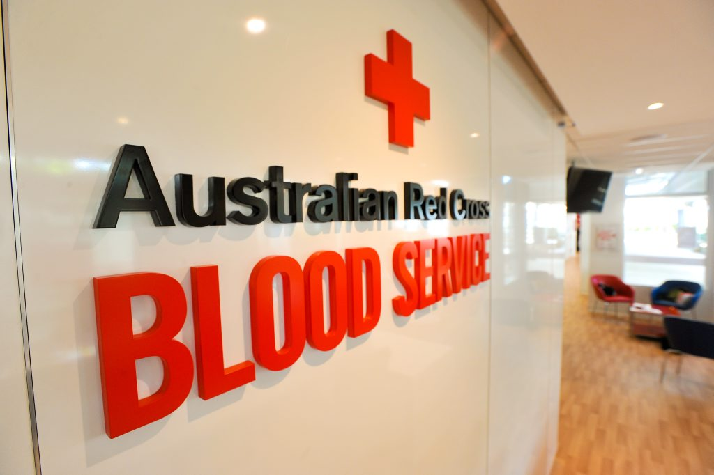 Australian Red Cross Blood Service Blood bank feature.
