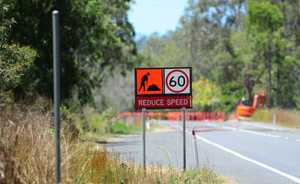 Dawson Highway, Burua, road works.