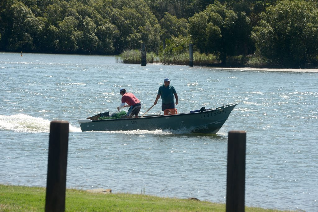 Police are investigating after a body was found in a bag. Fisherman yesterday took to the river unaware.