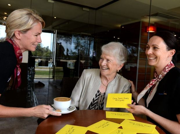 Gold Coast gives, Alana Richardson, Robyn Allen and Stacey Panozzo at Currumbin RSL. Photo: John Gass / Daily News