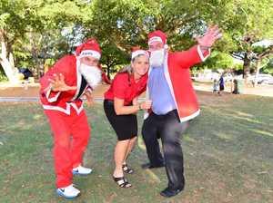 On your mark, get set, ho! ho! ho!