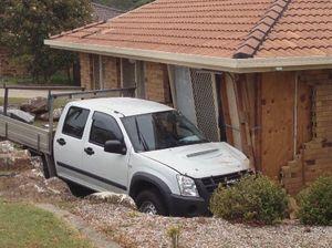 Lucky escape after ute runs into house