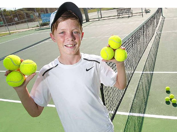 Jake Nicholson, 12, has been selected from 2500 applicants to be a ball kid for the Australian Open tennis tournament.