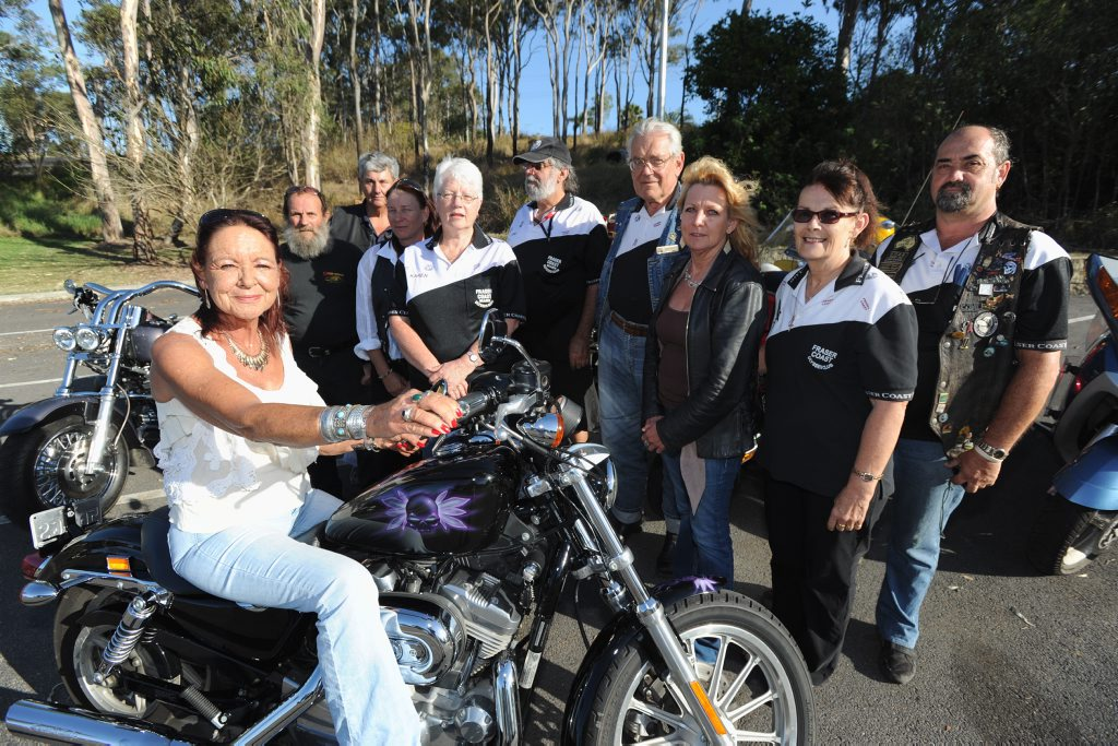 Members of the Fraser Coast Ulysses Club Heather Hagar, Lee Hidden, Clayton Poole, Sharon Bossom, Karen and Tony Sciberras, Jack Frost, Sue Newhall, Lynne Nebel and Dave White will ride from Maryborough to Hervey Bay for charity.