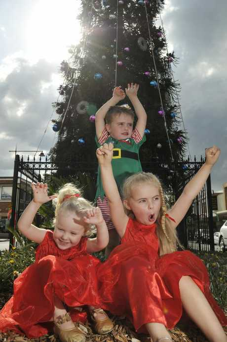 Phoebe Gilmour, Lochie Ryan and Georgia Ryan will be thrilled to hear Christmas is coming back to the Toowoomba CBD this year.