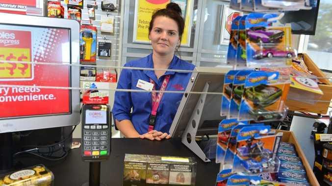 Sales Representative Amber Britton talks about plain packaging cigarettes.