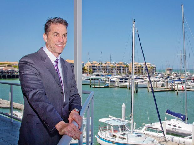 New University of Southern Queensland Fraser Coast head of campus and executive manager Brett Langabeer at Hervey Bay Marina.
