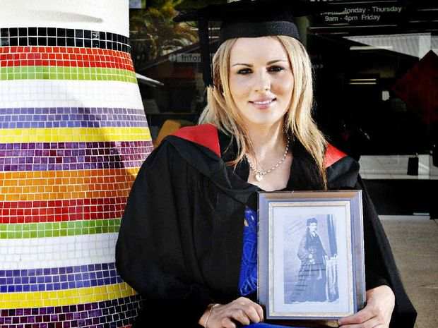 IN THE FAMILY: Taylor Alexander, of Evans Head, used her great-great-great-grandmother Ellen Martha Mathews as a role model and is now graduating with a Bachelor of Midwifery from SCU.