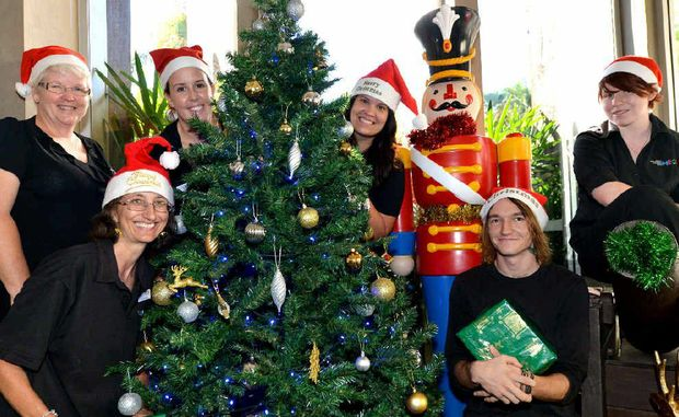 WINTER WONDERLAND: MECC staff Joanne Grosskropf, Rosemary Haines, Catherine Batterson, Leah Edwards, Isaac Ford and Aleisha Ashton have been hard at work preparing for the 4MK John Donnelly Carols in the City to be held tomorrow.