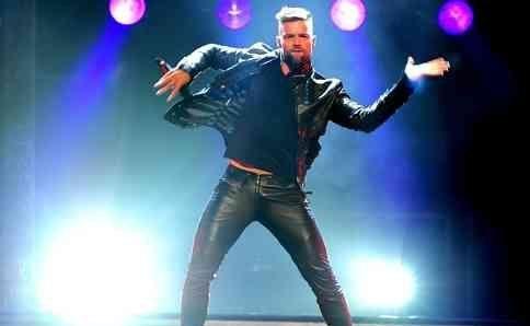 Ricky Martin during his MAS tour.