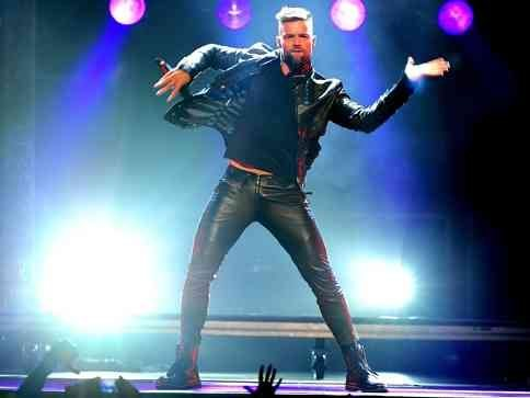 Ricky Martin during his MAS tour.
