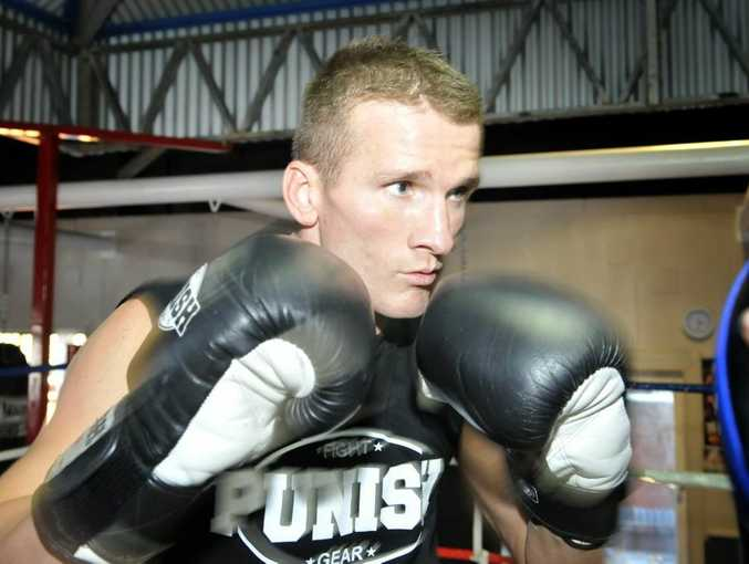 IT'S ON: Les Sherrington is looking to take out Sam Soliman next month.