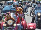 Bikers from far and wide banded together for a Christmas Toy Run to give toys for disadvantaged children this Christmas. Photo: John McCutcheon / Sunshine Coast Daily