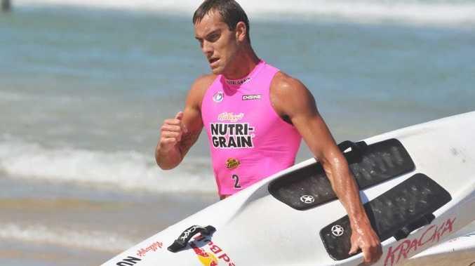 Kellogg's Nutri-Grain Ironman Series at Coolum Beach. Matt Poole cools down