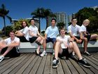 H.S.C student finishing school. Billy Skelly, Alex Dallinger, Ashleigh McNamara, Louis Wong, Connor Taylor, Black Mackenzie, Elizabeth Boreham. Photo: John Gass / Daily News