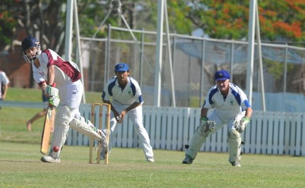 Jake Elward bats for Brothers in their CRCA Premier Grade match against Harwood at Harwood Oval on Saturday.