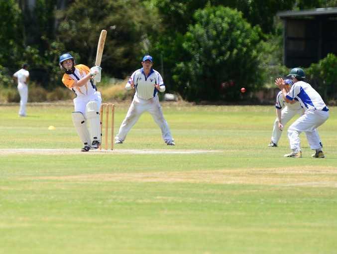 Liam Kirk. Gladstone vs Rockhampton cricket at Rockhampton Cricket grounds. Photo Sharyn O'Neill / The Morning Bulletin
