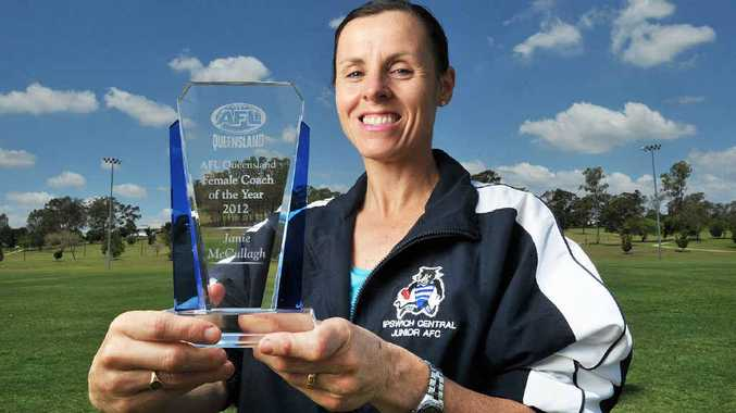 WELL-DRILLED: Janie McCullagh won the AFL Queensland female coach of the year award.