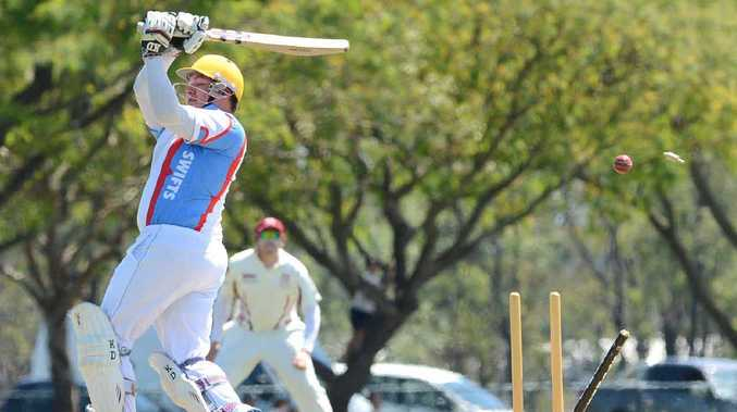 MIDDLE STUMP: Swifts batter Cameron Wood has his castle skittled for 17 in Swifts' loss to Central Districts on Saturday. Match review Page 27.