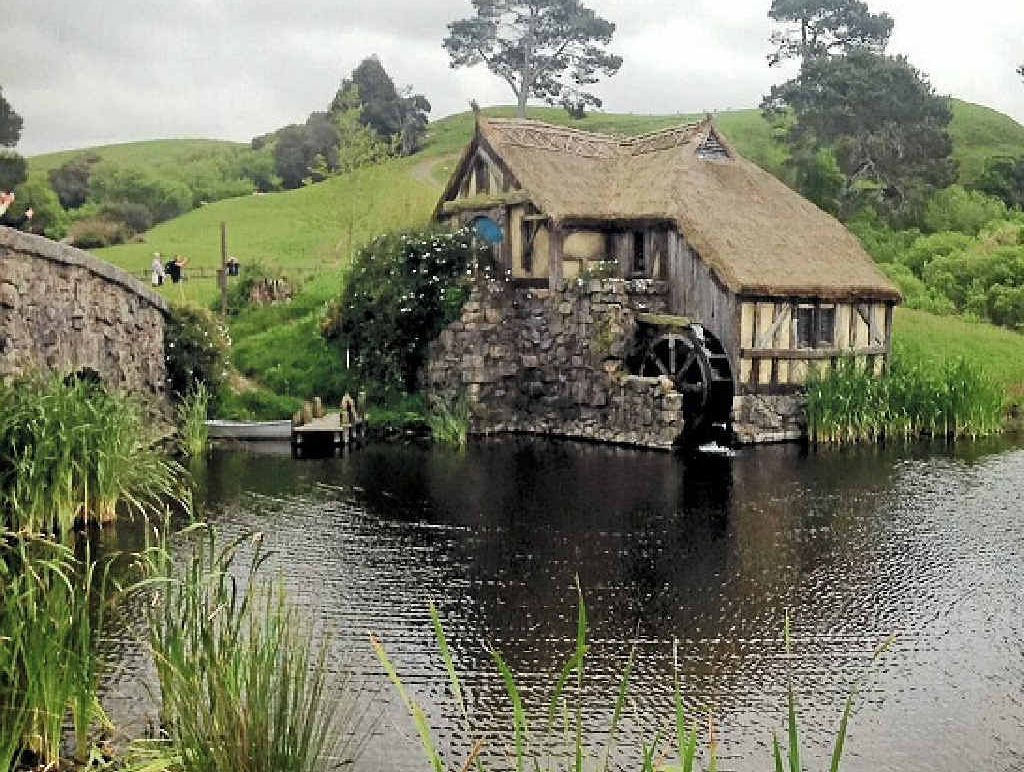 Hobbit homes are just a facade, but they create an enchanting illusion.