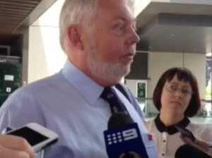Morcombes speak to reporters