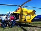 RACQ CareFlight transports an injured horse rider to Toowoomba.