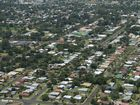 Aerial photograph of Harristown. The Reserve Bank it predicted to cut interest rates today.