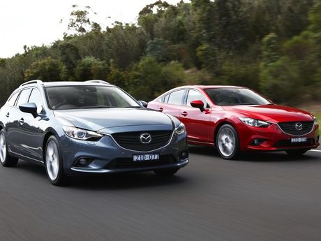 The new Mazda6 is available in wagon and sedan.