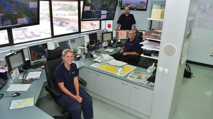 VTS Officers Marina Noonan, Drew Townsend and David Mallabar.