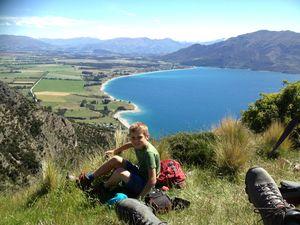Lucas follows in dad's footsteps on 90km NZ trek