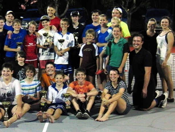 Ipswich Tennis Centre players and coaches enjoy a fun day at the Tivoli venue.