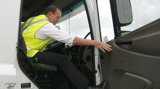 Opposition leader Tony Abbott is digging out his truck driver's licence for a run down the Pacific Hwy as part of his pledge to fix it up.