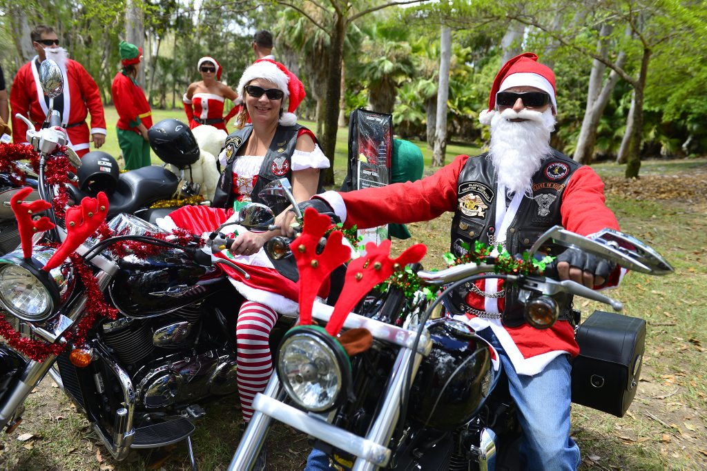 Image for sale: The Ulysses Toy Run at the Tondoon Botanical Gardens. Emma Kirkby and Billy Wright.