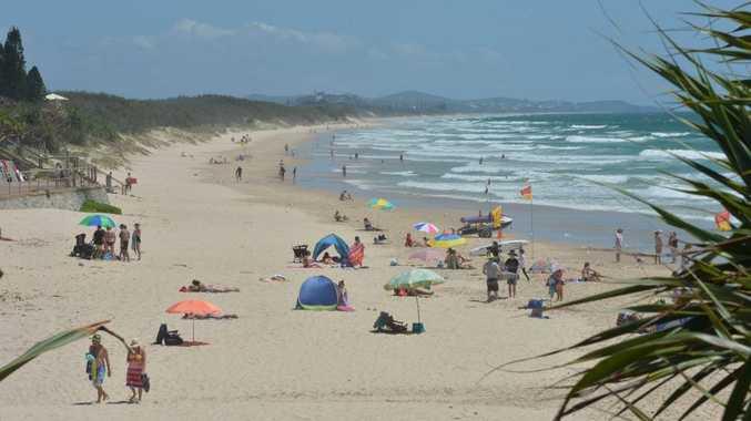 Summer time at  Coolum Beach.