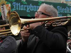 Three brass bands come together for Christmas concert