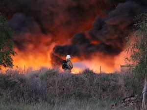 Oakey industrial estate fire