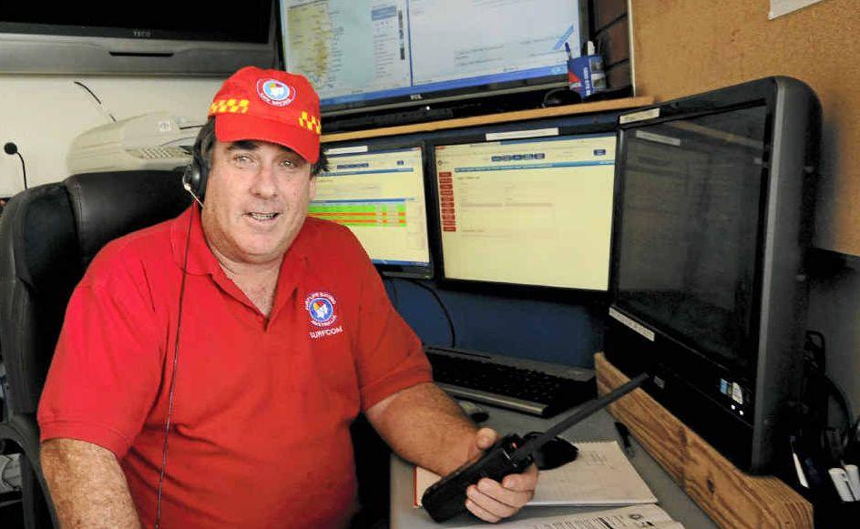 VOLUNTEERS NEEDED: FNC Surf Life Saving radio adviser Elton Cummings at the Surfcom radio room at the Shelly Beach surf clubhouse.