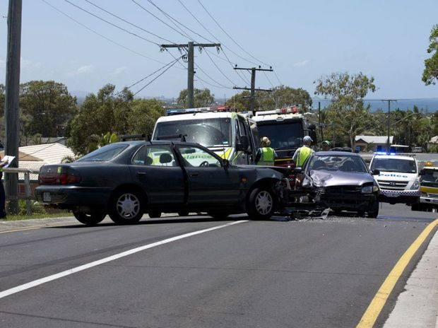 The two cars involved in the crash at Kings Beach.