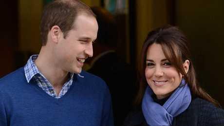 The Duke and Duchess of Cambridge leaving hospital.