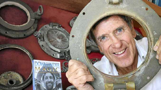 LIFE UNDER THE SEA: Alstonville man Bill Silvester has self-published an autobiography which chronicles a history of scuba diving in Australia. He is pictured with some early diving equipment.