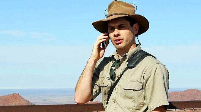 FIELD WORK: Dr Gardner-Stephen tests mobiles in Arkaroola.