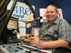 Rockhampton morning talkback show host Michael J Bailey at the microphone at 4RO.